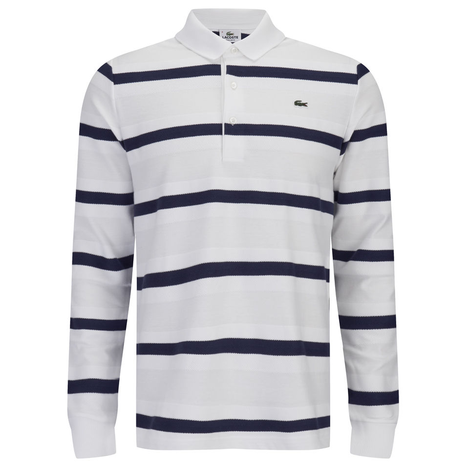 f5b716c49 Lacoste Men s Long Sleeve Polo Shirt - White - Free UK Delivery over £50