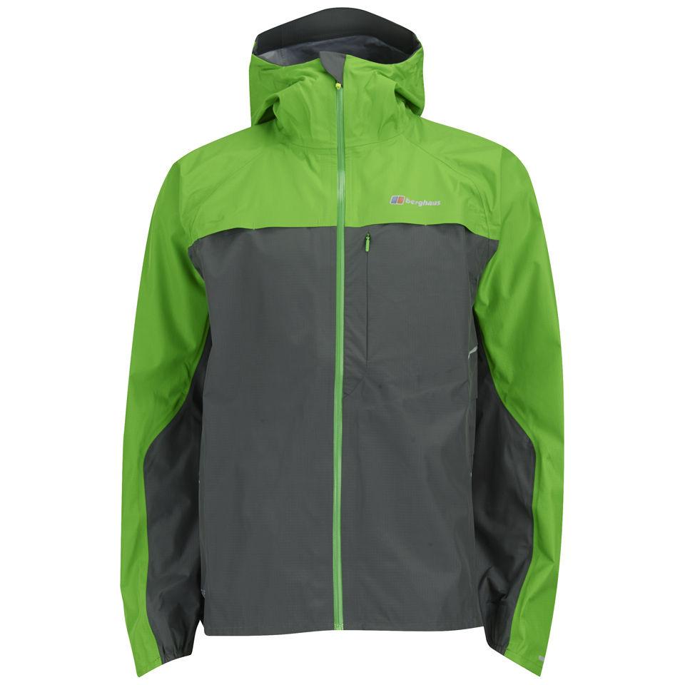 best deals on best value official store Berghaus Men's Vapour Storm Shell Jacket - Grey/Green