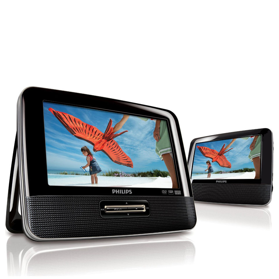 philips pd7022 05 7 inch dual screen dvd player electronics. Black Bedroom Furniture Sets. Home Design Ideas