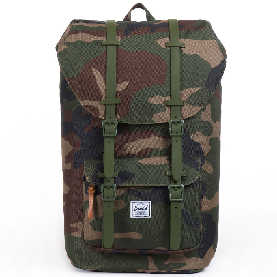 86e1e9bba48 Little America Backpack - Woodland Camo Rubber Herschel Supply Co. Little  America Backpack - Woodland Camo Rubber