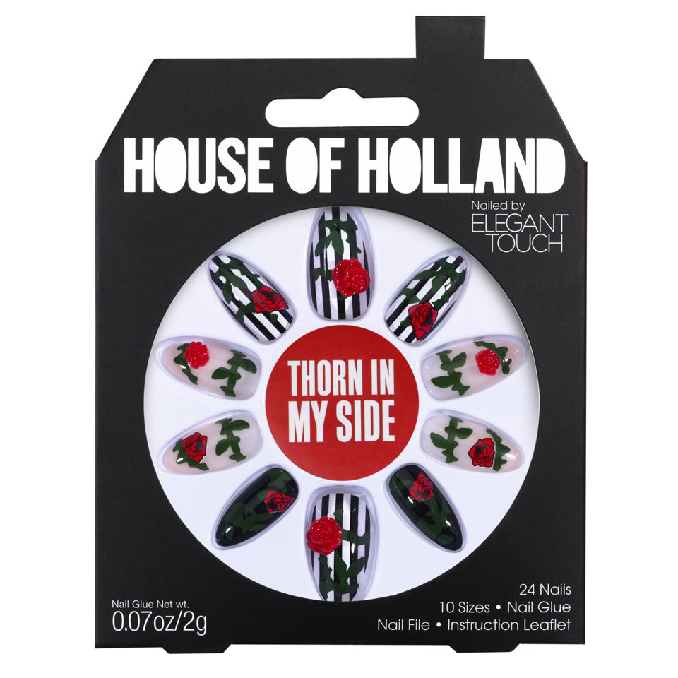 House of Holland Nails Created by Elegant Touch - Thorn in my Side