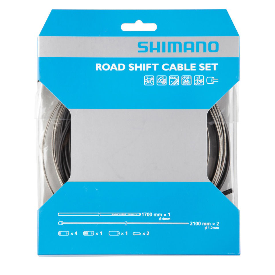 Shimano Road Gear Cable Set With Stainless Steel Inner