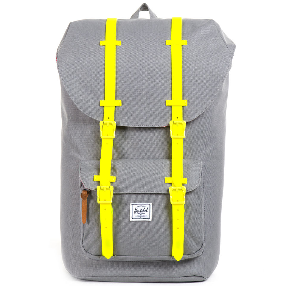 Herschel Supply Co. Little America Backpack - Grey Yellow Rubber ... 0f3688fde50