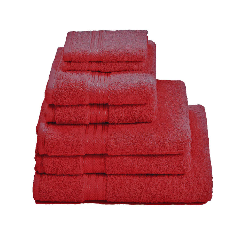 Restmor 100% Egyptian Cotton 7 Piece Supreme Towel Bale Set (500gsm) - Red