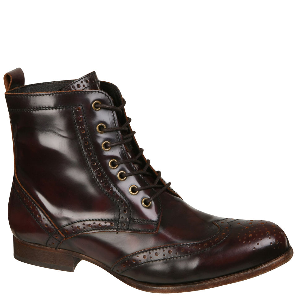 a3742bbd8 H Shoes by Hudson Women s Sherwin Lace Up Ankle Boots - Bordo Clothing