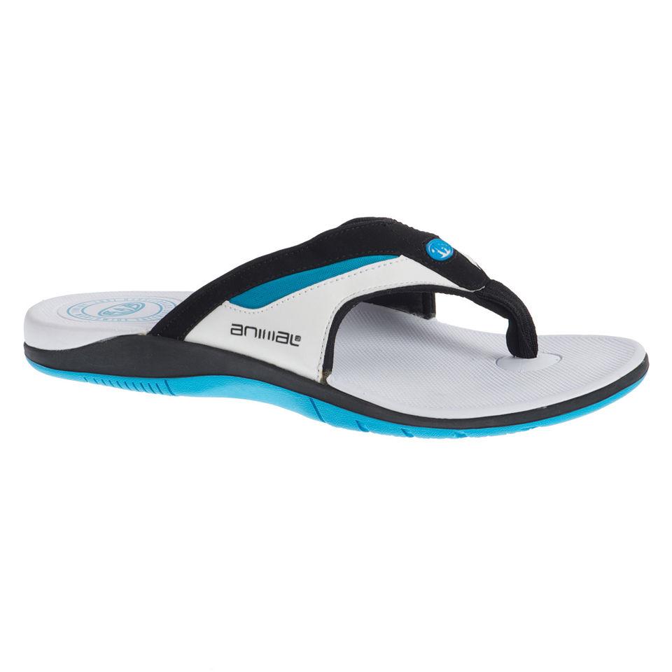fdb26aca67089 Animal Men s Premium Fader Flip Flops - White Sports   Leisure