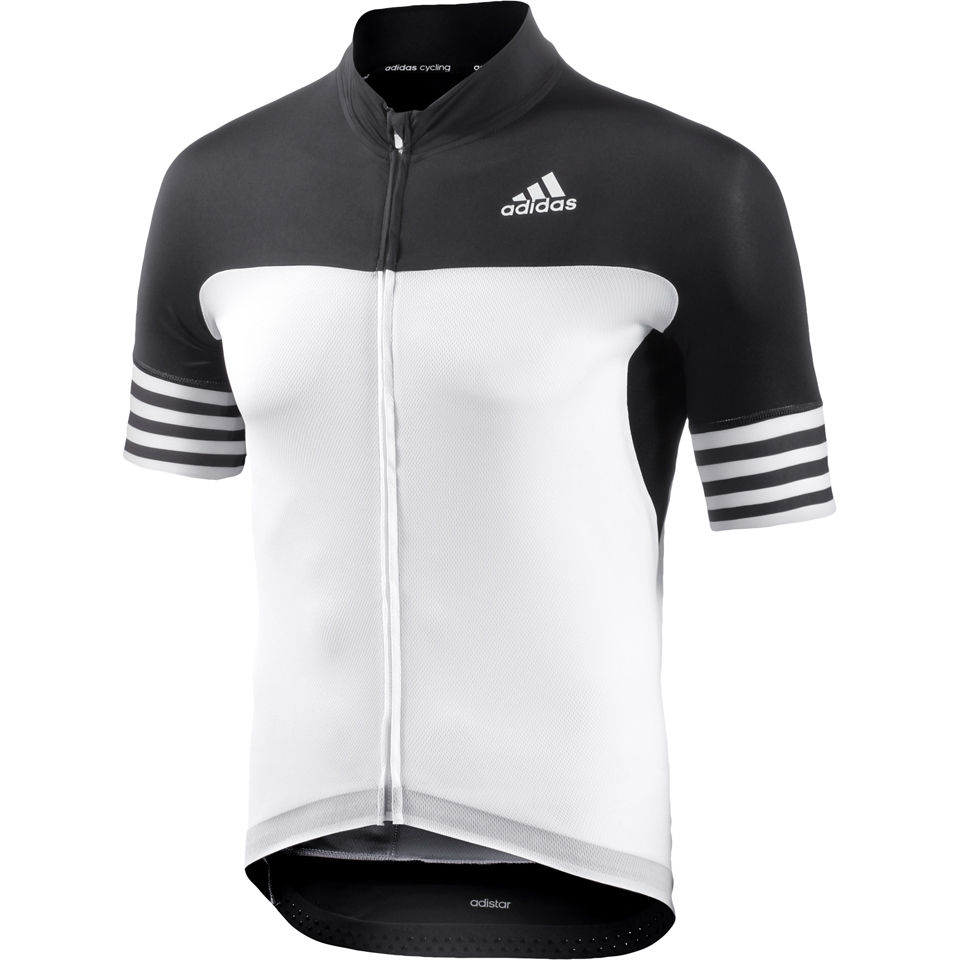 45a6eb197 adidas Adistar Short Sleeve Cycling Jersey - White Black ...