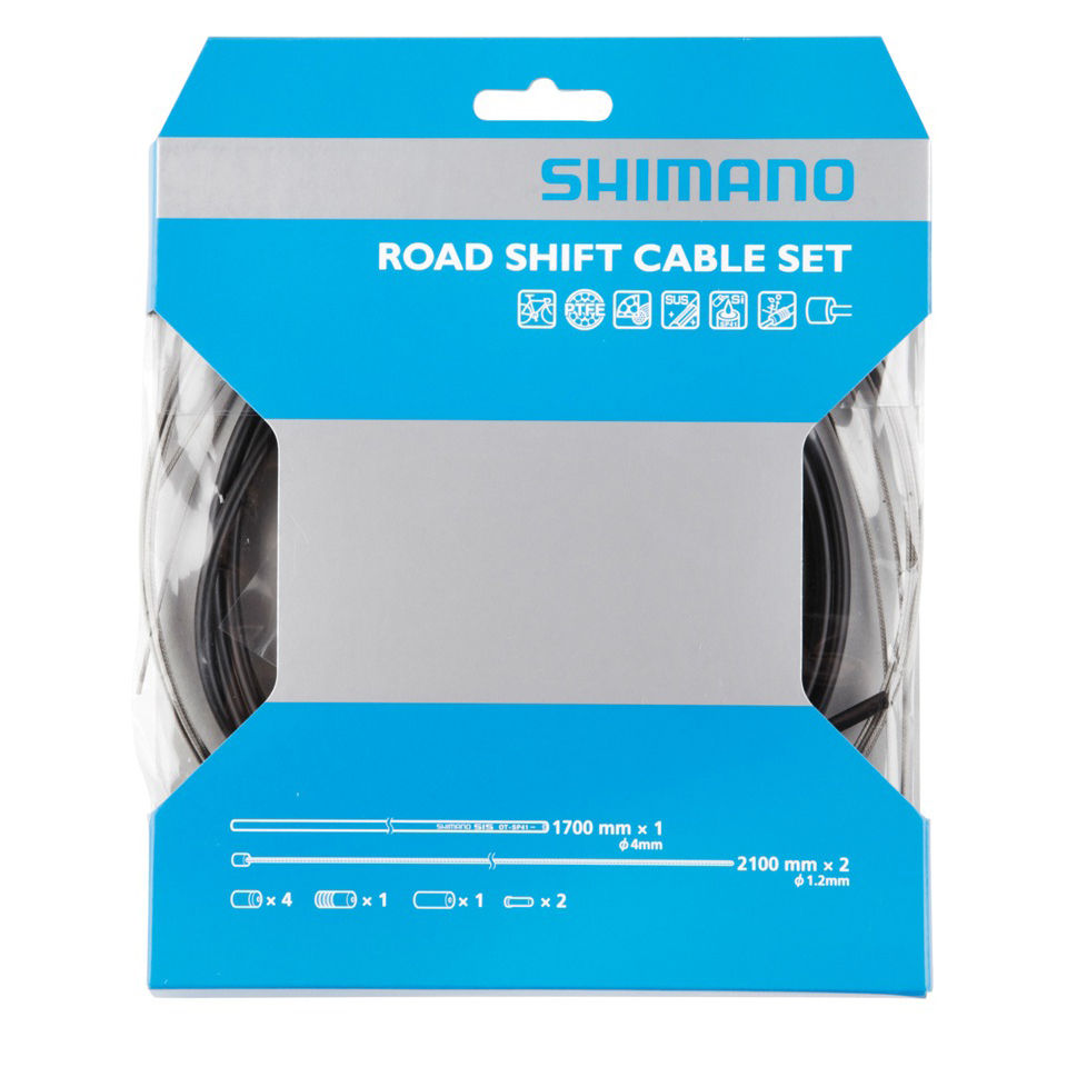 Shimano Road Gear Cable Set With PTFE Coated Inner