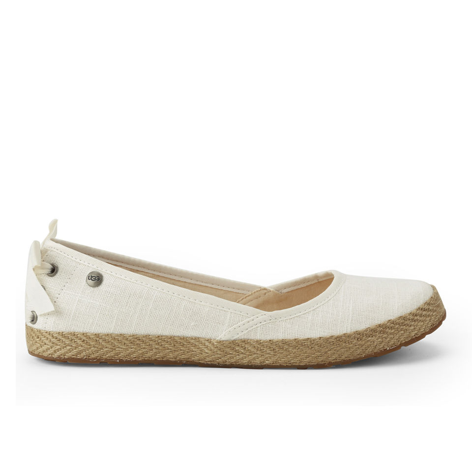 f7bc1e01a8c UGG Women's Indah Canvas Espadrille Shoes - White