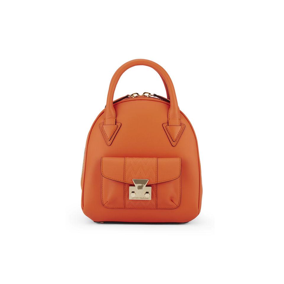 28460aa30d73 Matthew Williamson Mini Leather Dome Tote Bag - Orange - Free UK Delivery  over £50