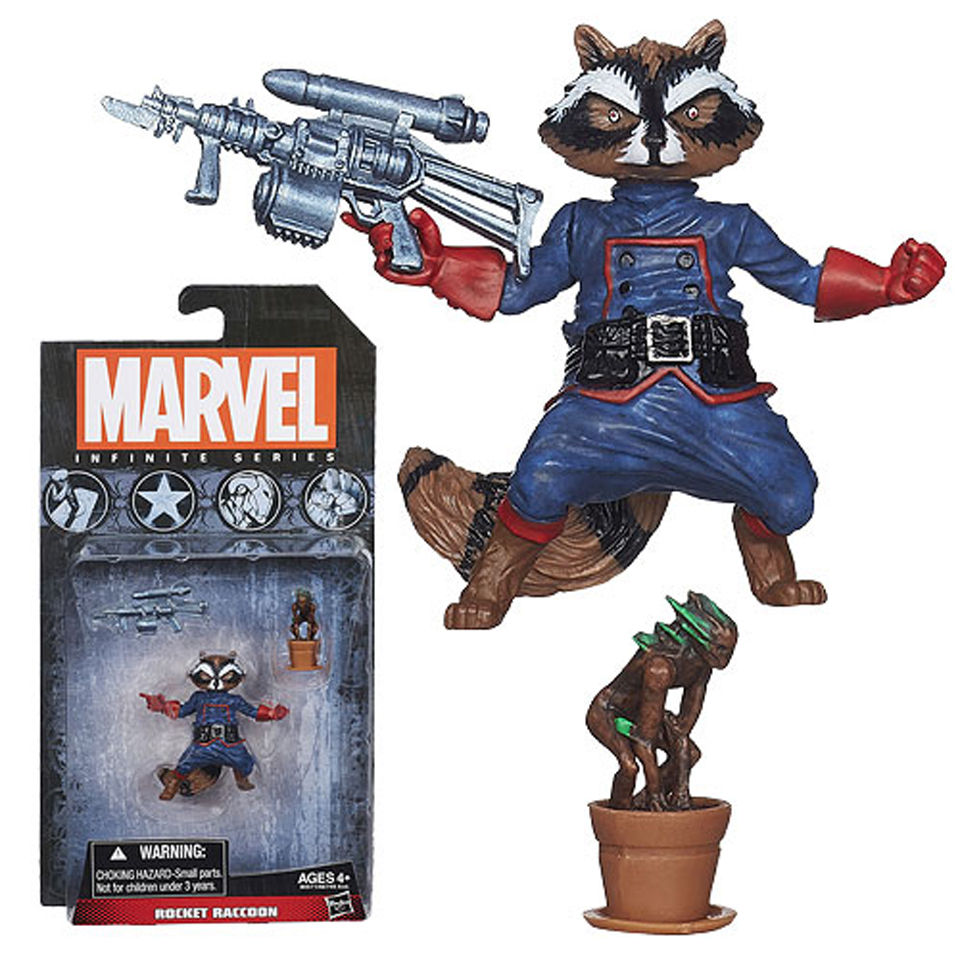 Marvel Infinite Series Rocket Raccoon Action Figure Toys