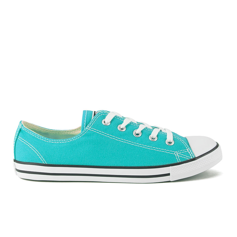 6cf3338b6bba ... Converse Women s Chuck Taylor All Star Dainty Canvas OX Trainers -  Peacock