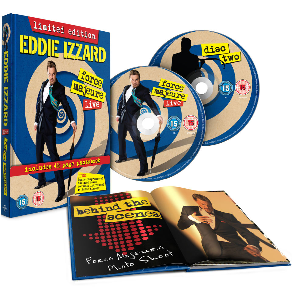 Eddie Izzard: Force Majeure - Live: Includes 48-page photobook (Limited Edition)