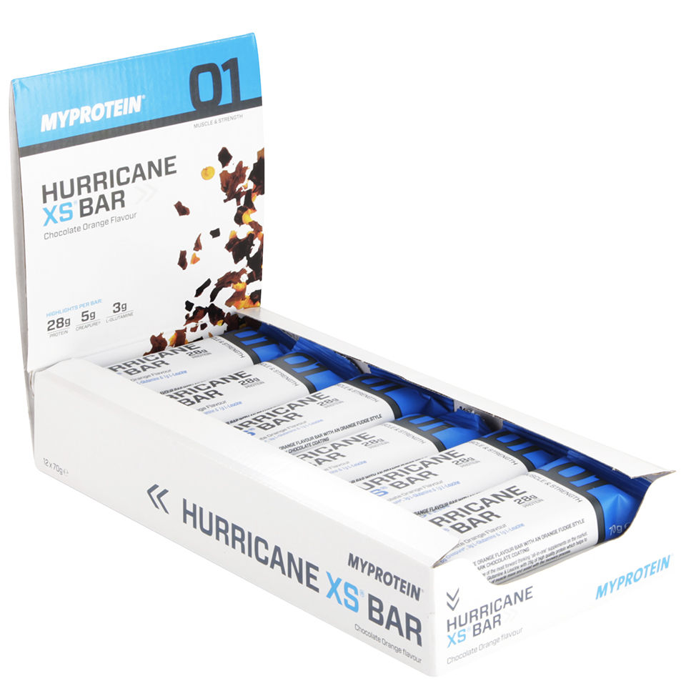 Hurricane XS Bar - Chocolate Orange - 12 x 70g Bars