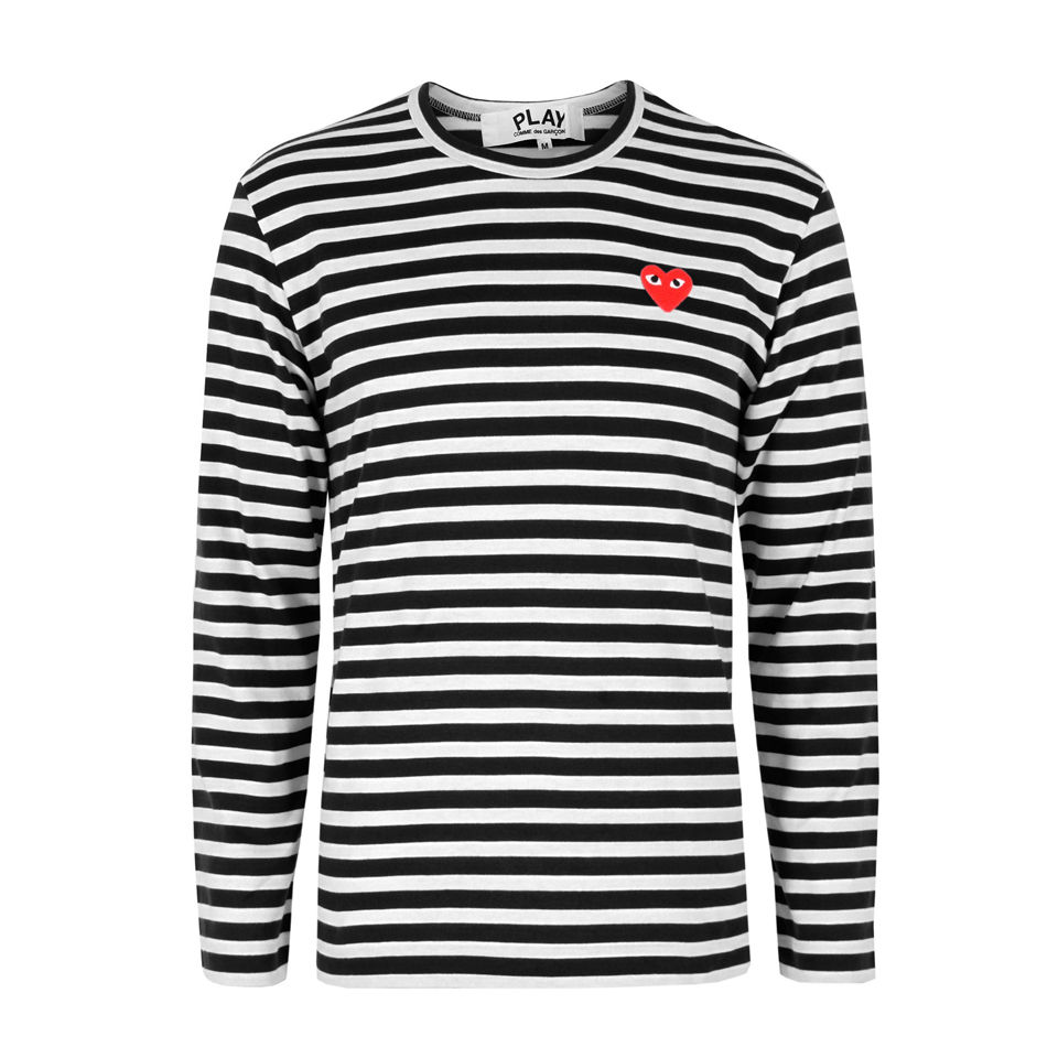 37393c57 Comme des Garcons PLAY Men's T164 Stripe T-Shirt - Black - Free UK ...