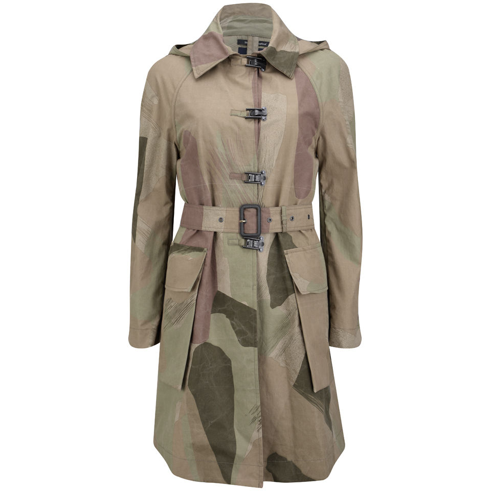 35db22ce70194 Nigel Cabourn Women's Coat - Light Camouflage - Free UK Delivery ...