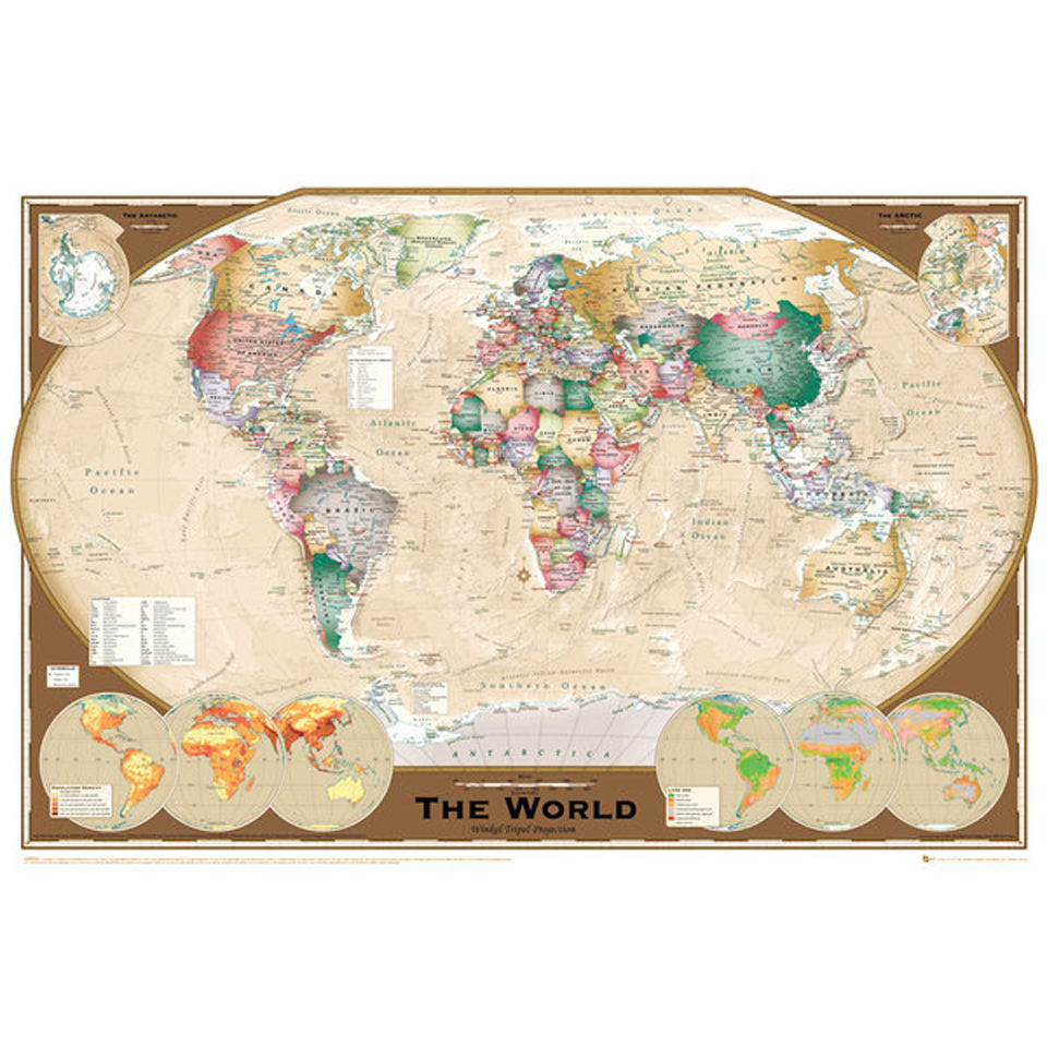 World Map Tripel Projection - Maxi Poster - 61 x 91.5cm