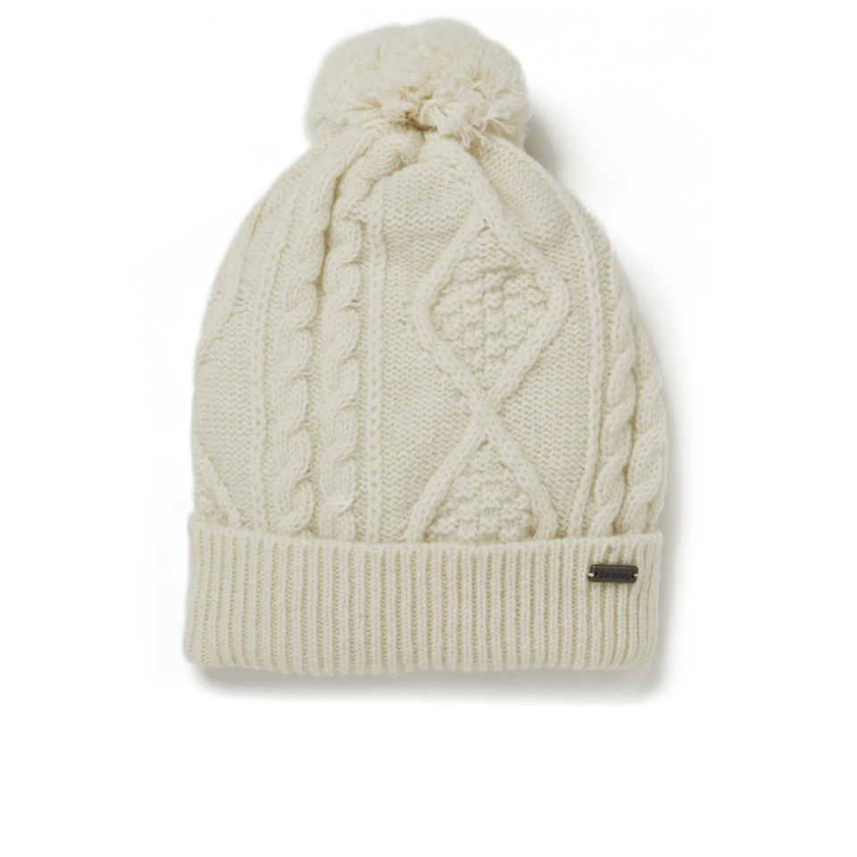 2cacd76c Barbour Knitted Sub Bobble Hat - Vanilla