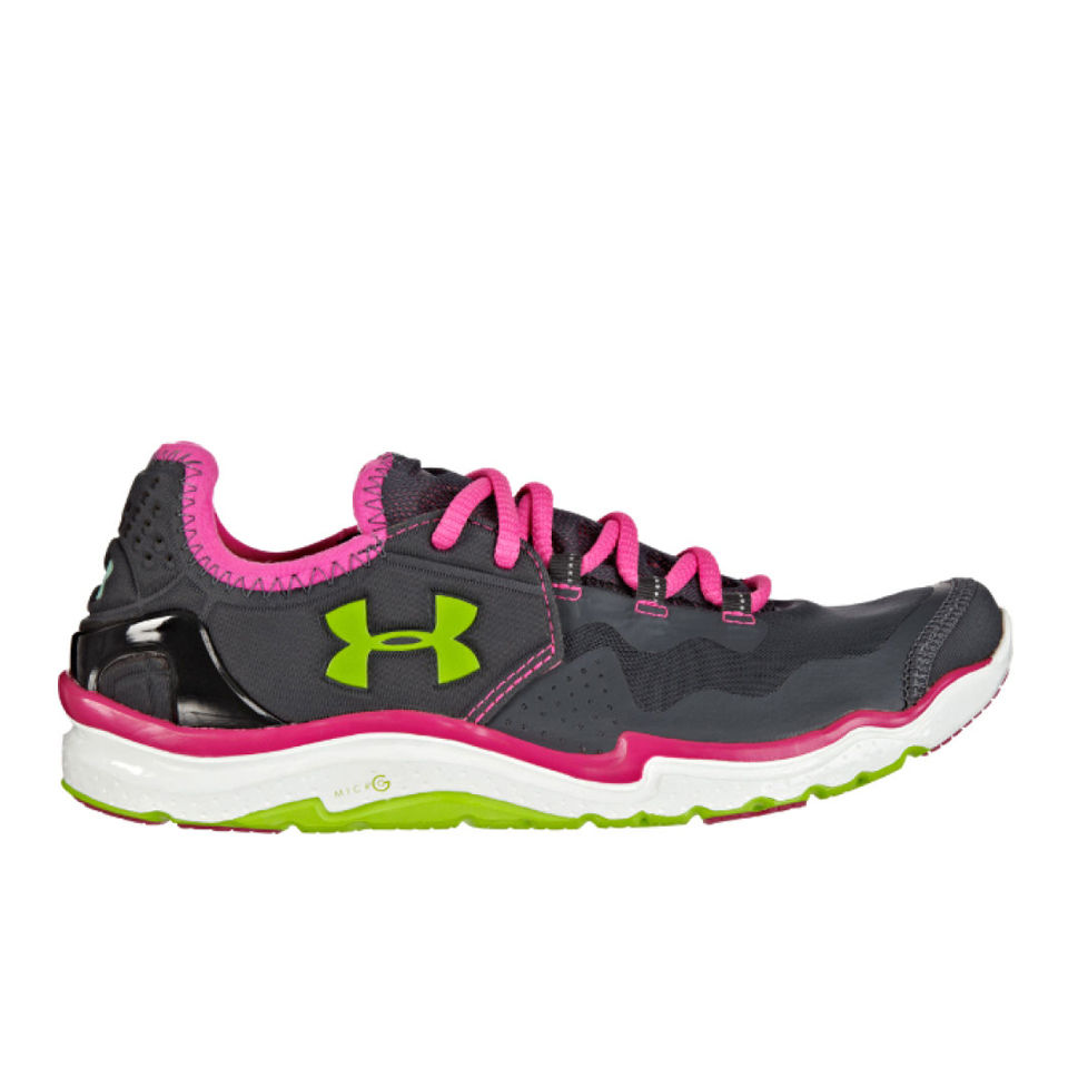 1c6401d2 Under Armour Women's Charge RC 2 Running Shoes - Lead/Pink/Adelic/Hyper  Green