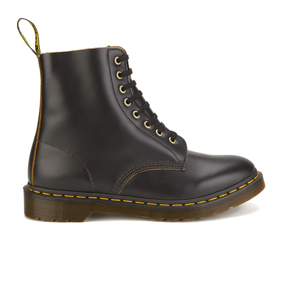 Dr. Marten's Men's Archive Pascal 8 Eye Leather Boots Black Vintage Smooth