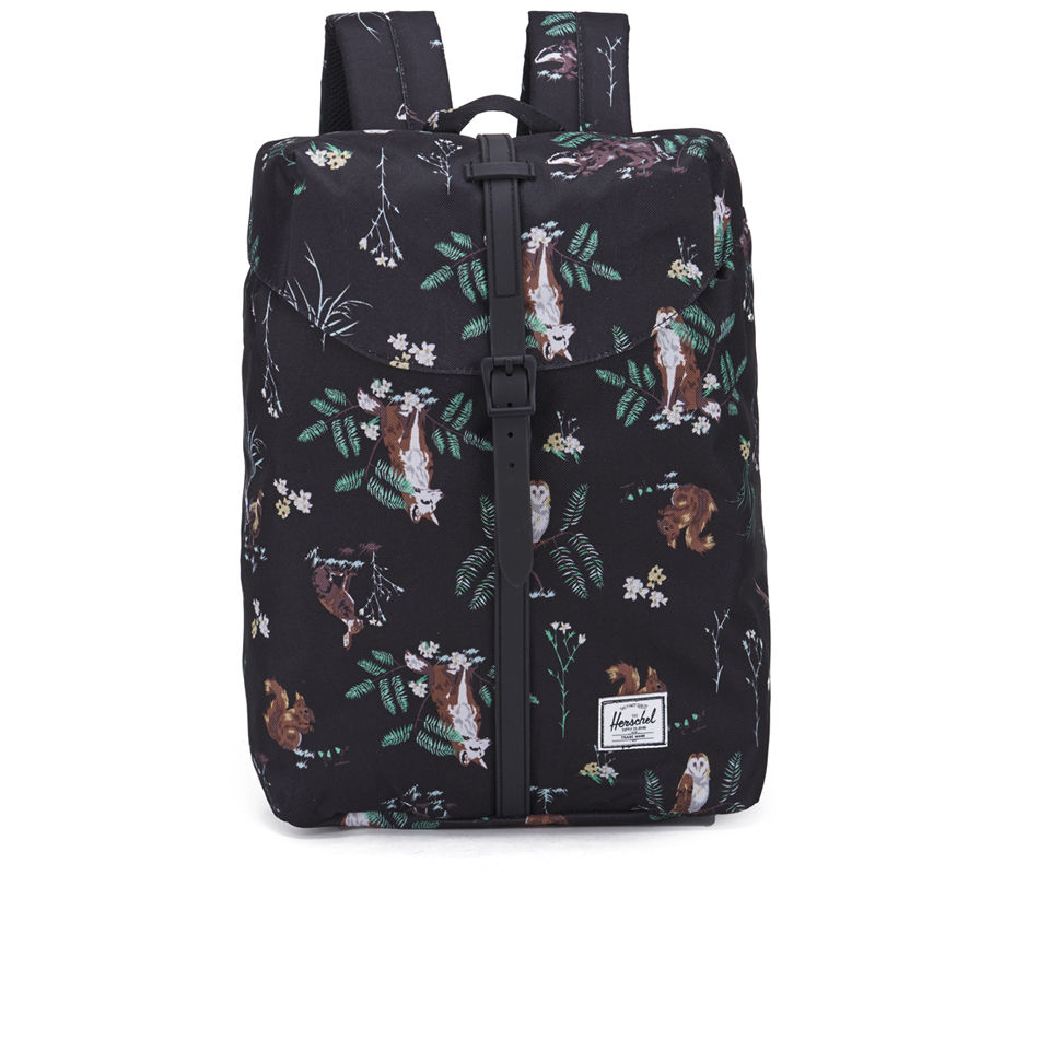95d5e477cce ... Herschel Supply Co. Post Printed Mid Volume Backpack -  Countryside Black Rubber