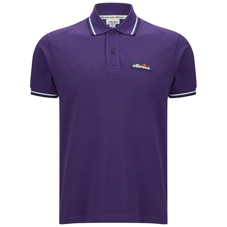 2f9895e655b5fd Ellesse Men's Challenge Polo Shirt - Purple Sports & Leisure | Zavvi