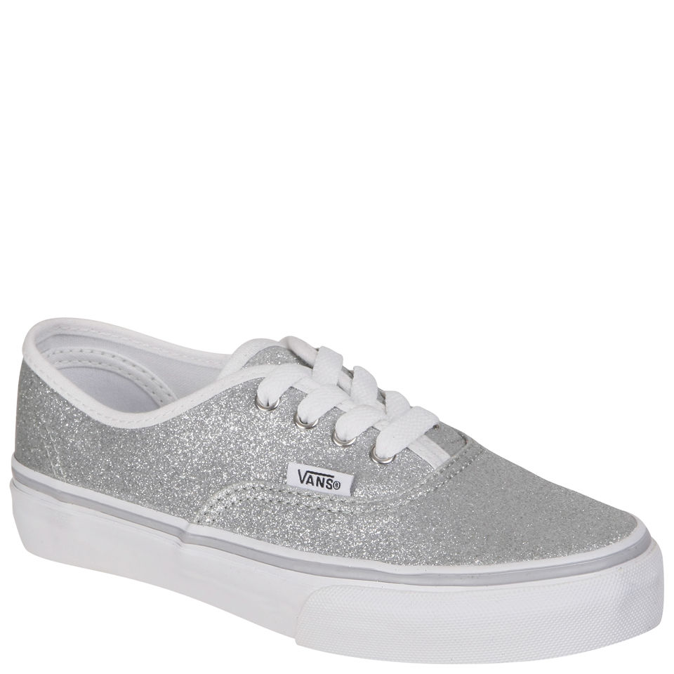 bb01d7a5280a0f Vans Kids  Authentic Canvas Trainers - Glitter Silver Clothing
