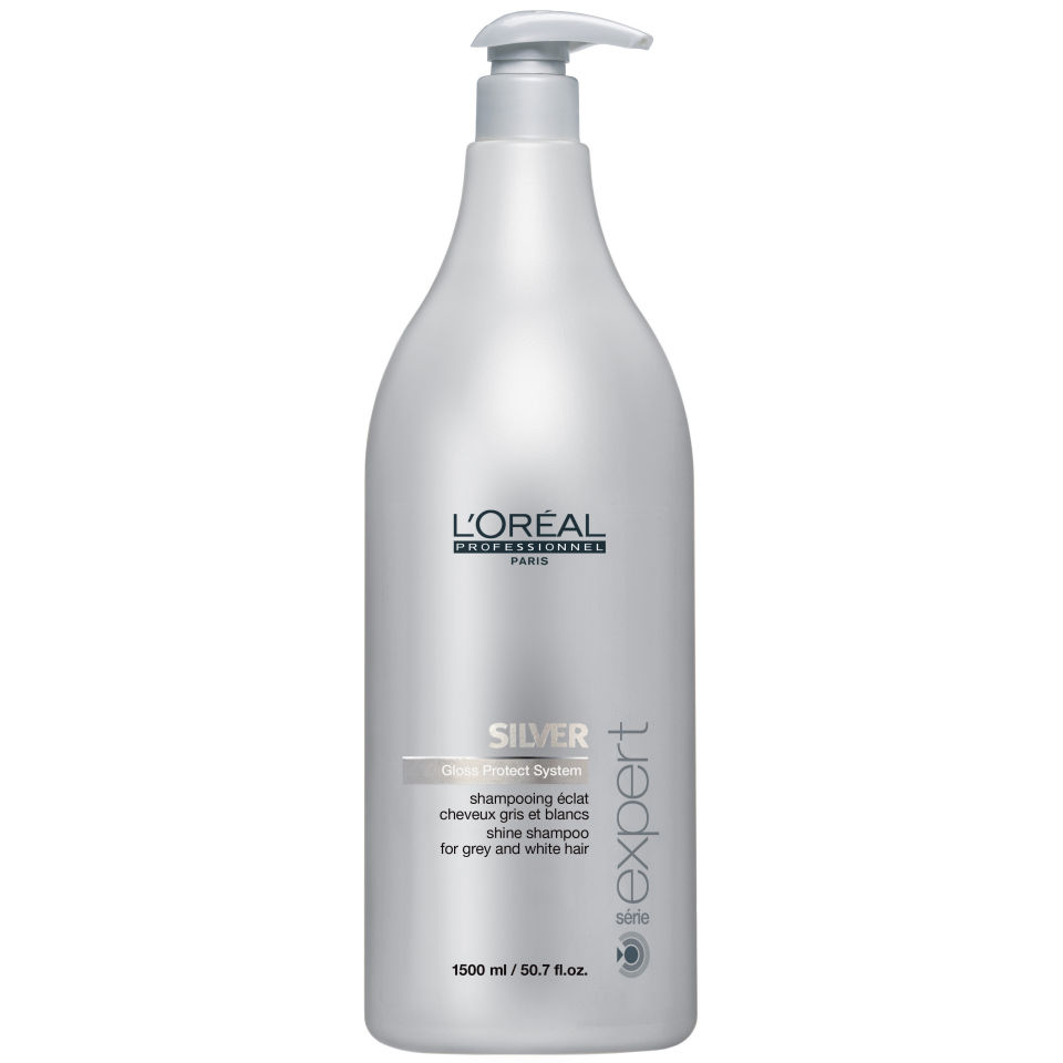 L 39 oreal professionnel serie expert silver shampoo 1500ml for Loreal salon hair products