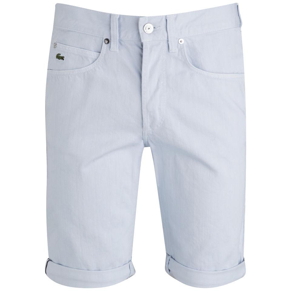 1a61ac7dbcb6 Lacoste Live Men s Denim Shorts - Light Lagoon Mens Clothing