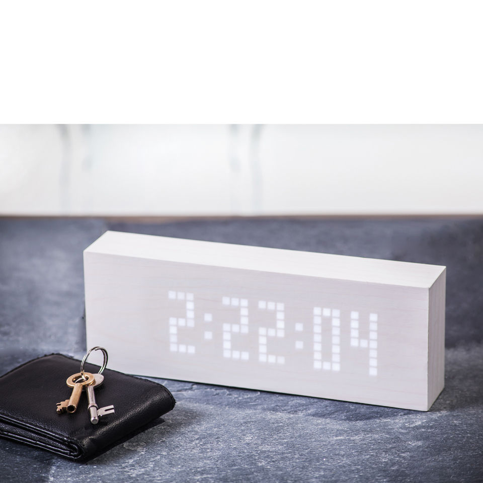 Message Click Clock - White