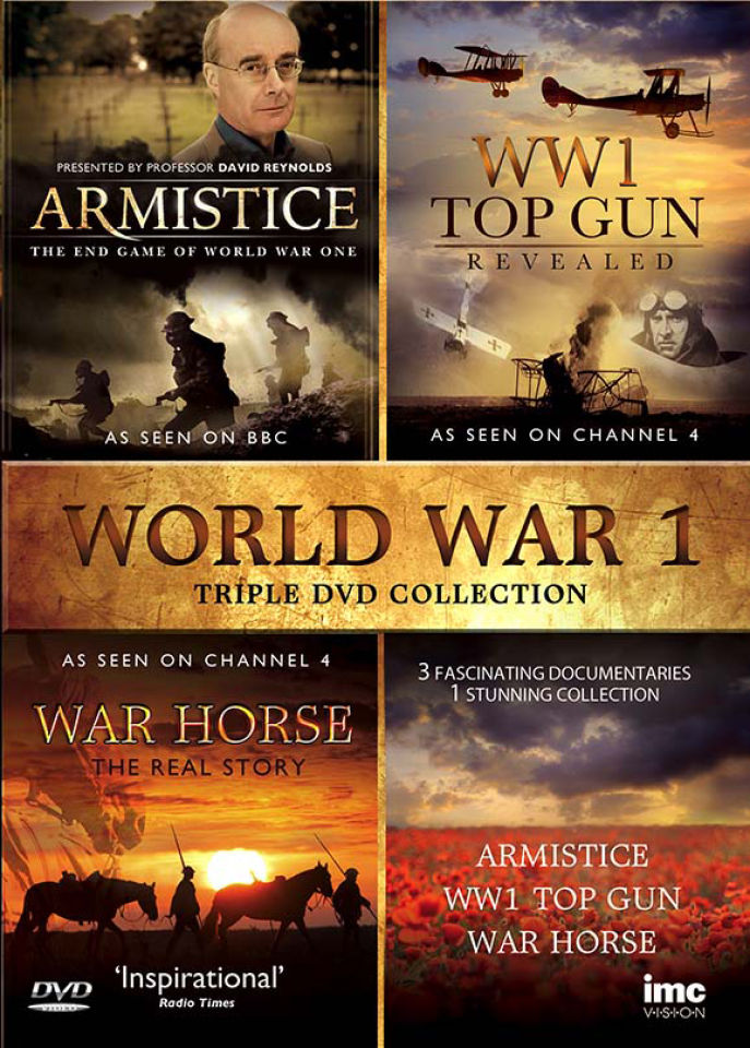 WW1 Triple DVD Box Set: Armistice, War Horse and WW1 Top Gun Revealed