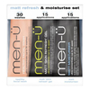 men-ü Matt Refresh and Moisturise Set - 15ml (3 Products): Image 1