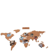 Cork Board World Travel Map: Image 2