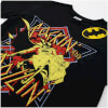 DC Comics Men's Batman Rockin N Rollin T-Shirt - Black: Image 3