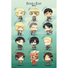 Attack on Titan Chibi Characters - Maxi Poster - 61 x 91.5cm: Image 1