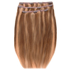 Extensiones de cabello Deluxe Clip-In de 45,7 cm de Beauty Works - Rubio Tanned 14/10/16: Image 1