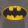 DC Comics Men's Batman Distressed Logo T-Shirt - Charcoal: Image 5