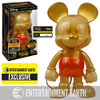 Disney Mickey Mouse Gold Glitter Hikari Sofubi Entertainment Earth Exclusive Vinyl Figure: Image 1