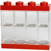 LEGO Mini Figure Display (8 Minifigures) - Bright Red: Image 1