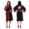 DC Comics Women's Bombshells Harley Quinn Fleece Bathrobe - Black: Image 1