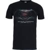 DC Comics Men's Batman v Superman Men's Dawn of Justice T-Shirt - Black: Image 1