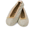 Holistic Silk Massaging Slippers - Jade - L: Image 1