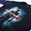 Uncharted 4 Men's Cover Logo Long Sleeve Top - Navy: Image 2