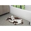 Cowhide Bath Rug - Brown: Image 1