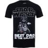 Star Wars Men's Vader Best Dad T-Shirt - Black: Image 1