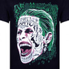 DC Comics Men's Suicide Squad Joker Head T-Shirt - Black: Image 2