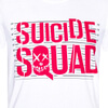 DC Comics Men's Suicide Squad Line Up Logo T-Shirt - White: Image 2