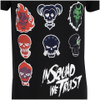 DC Comics Men's Suicide Squad Villain Skull T-Shirt - Black: Image 5