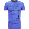 Star Wars Men's X-Wing Schematic T-Shirt - Heather Royal: Image 1