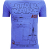 Star Wars Men's X-Wing Schematic T-Shirt - Heather Royal: Image 4